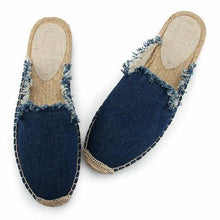 Load image into Gallery viewer, Solid Raw Canvas Fisherman Comfortable Slippers