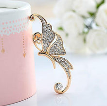 Load image into Gallery viewer, Boho One Piece Rhinestone Butterfly Ear Cuff Earring