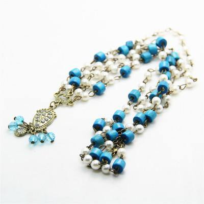 Fashion Diamond Chain Turquoise Sapphire Headwear Accessories