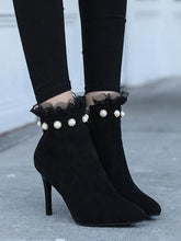 Load image into Gallery viewer, Women Autumn Suede Pointed Stiletto Boots