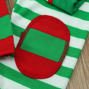Family Christmas pajams stripe set Xmas family suit