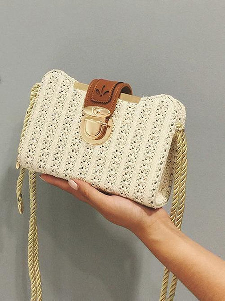Summer Fashion Trend Shoulder Knit Bags