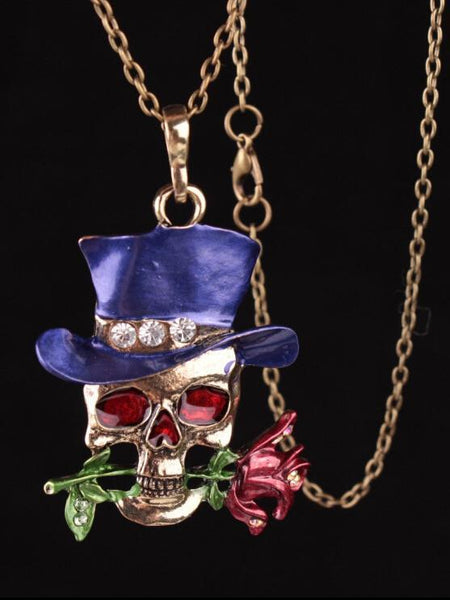 Halloween Taro Rose Necklace Accessories
