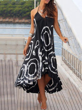 Load image into Gallery viewer, 2018 Print Black Halter Beach Maxi Long Dress