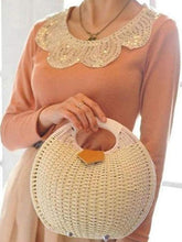 Load image into Gallery viewer, Natural Straw Woven Shell Clutch Beach Handbag