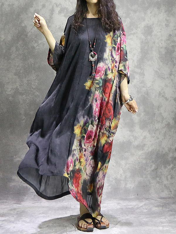 Floral Loose Casual Maxi Dress