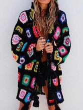 Load image into Gallery viewer, Handmade Hollow Tassel Hooded Sweater Cardigan
