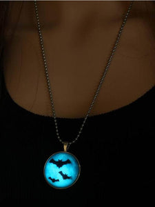 Halloween Glow in Dark Bat Necklace