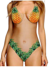 Load image into Gallery viewer, Flesh Pineapple Bikini Sexy Shell Swimsuit