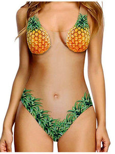Flesh Pineapple Bikini Sexy Shell Swimsuit