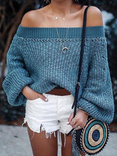 Load image into Gallery viewer, Knit Off Shoulder Long Sleeve Autumn Sweater
