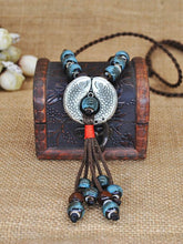 Load image into Gallery viewer, Ethnic Style Autumn Sweater Chain Fish Necklace