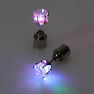 1 Pair LED Christmas Ear Studs