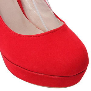 Suede Pure Color High Heel Shoes