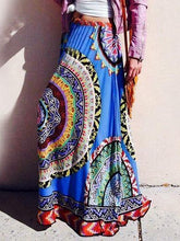 Load image into Gallery viewer, Print High Waist Boho Skirt