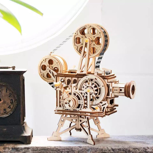 Wooden 3D assembled creative DIY puzzle - Classic Film Projector