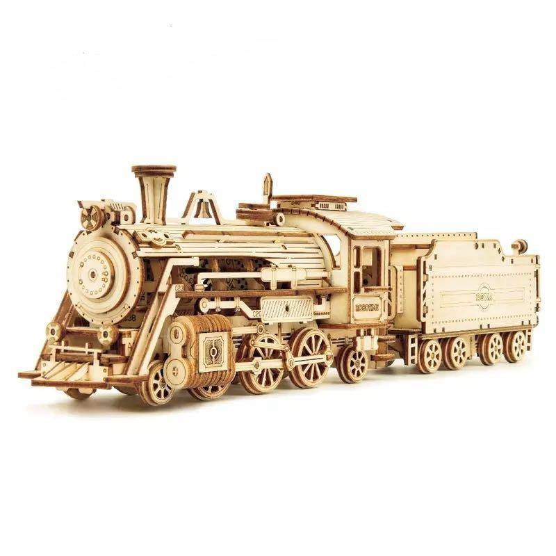 Wooden 3D assembled creative DIY puzzle - MC501 Prime Steam Express