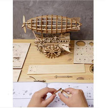 Load image into Gallery viewer, Wooden 3D assembled creative DIY puzzle - Air Vehicle