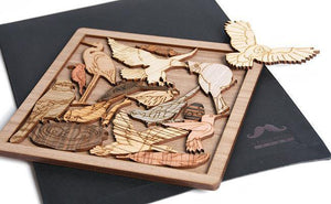 Bird Lovers Wood Puzzle Box