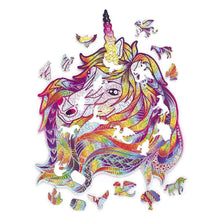 Load image into Gallery viewer, Unicorn Wooden Puzzle