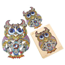 Load image into Gallery viewer, Charming Owl Wooden Puzzle
