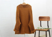 Load image into Gallery viewer, Casual Solid Color Knitted Long Cardigan