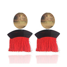 Load image into Gallery viewer, Bohemia charming long tassel handmade earrings fashion Party
