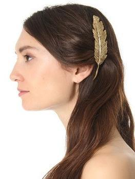 Retro Exaggerated Metal Big Leaf Hairpin Clip Hair Accessories Headwear