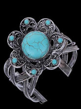 Load image into Gallery viewer, Openwork Turquoise Wide Bracelet