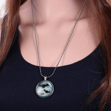 Load image into Gallery viewer, Halloween Glow in Dark Bat Necklace