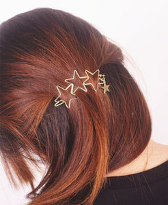 Popular Hollow Star Tassel Hairpin Hair Clips Hair Accessories