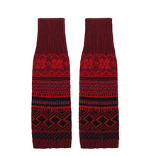 Load image into Gallery viewer, Winter Bohemian Boot Cuffs Knit Crochet Leg Warmers Socks