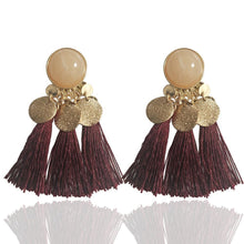 Load image into Gallery viewer, Geometric tassel earrings ethnic exaggerated retro wild tassel earrings