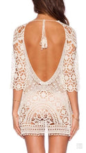 Load image into Gallery viewer, Hot Sale Long-sleeved lace blouse bikini sunscreen dress