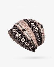 Women Bohemia Snowflake Hat Accessories
