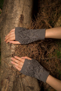 Half refers to the warm knit typing women s thick wool Half palm gloves - 2