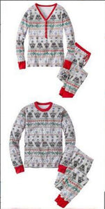 Family Christmas pajams printing set Xmas family suit -2