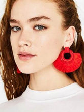 Load image into Gallery viewer, Fashion Alloy Paint Tassel Earrings