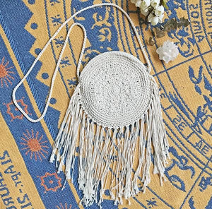 Hand-woven Mandala Holiday Hippie Cotton Tassel Shoulder Bag