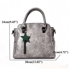 Load image into Gallery viewer, Elegant PU Leather Handbag Star Decorational Shoulder Bags Crossbody Bags For Women