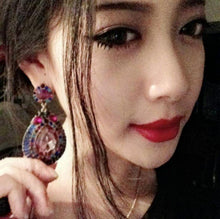 Load image into Gallery viewer, Fashion Crystal Diamond Colorful Drop Shape Earrings