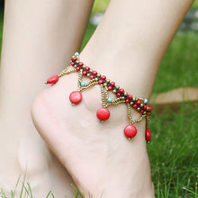 Load image into Gallery viewer, Original Turquoise Bohemian Beach Anklet Accessories