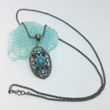 Load image into Gallery viewer, Vintage Hollow Turquoise Necklaces Accessories