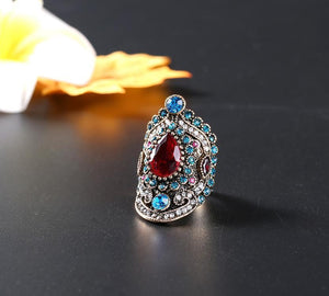 Retro Bohemia Ruby Gemstone Ring