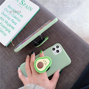 3D Luxury cute cartoon fruit avocado Soft silicone phone case for iphone X XR XS 11 Pro Max 12 MiNi 7 8 plus Holder cover