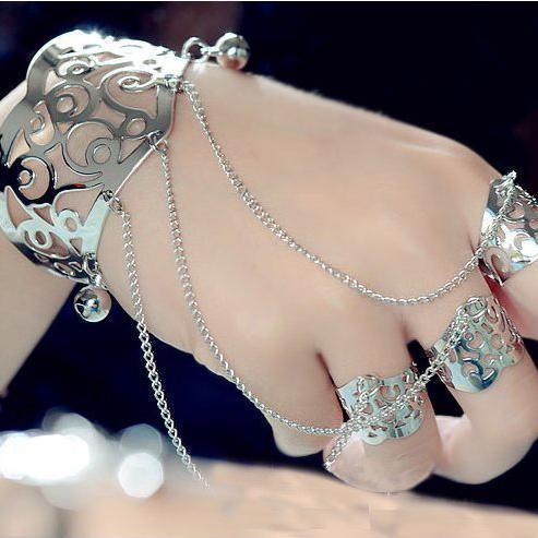 Bohemia style Bracelet with Ring wild party