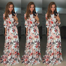 Load image into Gallery viewer, Floral Long Sleeve Maxi Mopping Dress