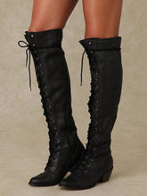 Load image into Gallery viewer, Autumn Winter Bandage Thigh-high Boots Shoes