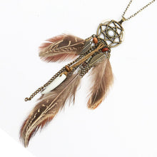 Load image into Gallery viewer, Retro Hollowed  Feather  Tassel Sweater Chain