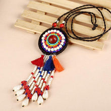 Load image into Gallery viewer, Women Jewelry Retro Bohemian Tassel Big Pendant Necklace